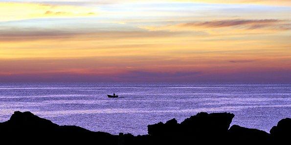Einsames Fischerboot