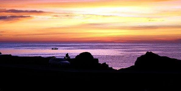 Fischer im Morgenrot