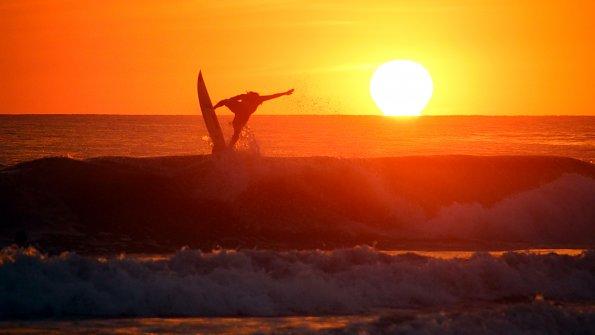 Wassersport Sonnenuntergang Pazifik