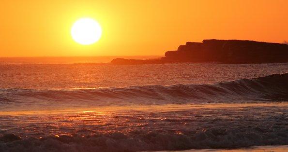 Heisser Sonnenuntergang