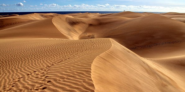 Goldene Sandduenen
