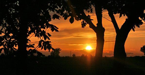 Abendrot Landschaft