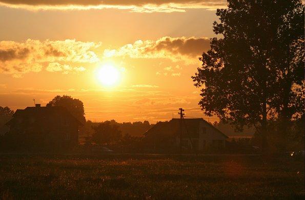 Abendsonne Dorf