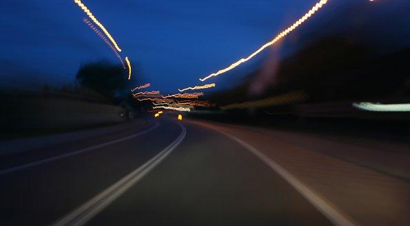 Nachts Fahrt