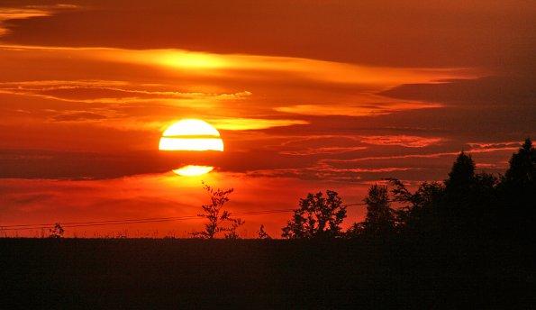Polen Sonnenuntergaenge