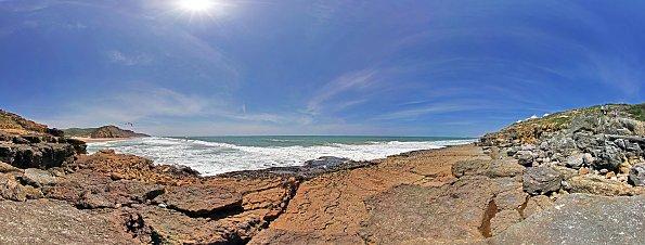 Wellen Felsen